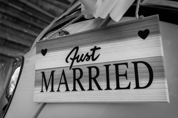 just married_sign